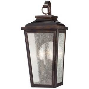 Outdoor Lighting Fixtures Wall Mount Irvington Manor Two Light Outdoor Wall Mount In Chelesa Bronze Minka Lavery Wall Mounted