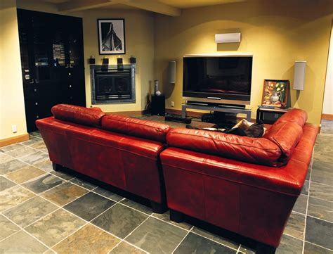 sofa for basement red leather sectional basement contemporary with none