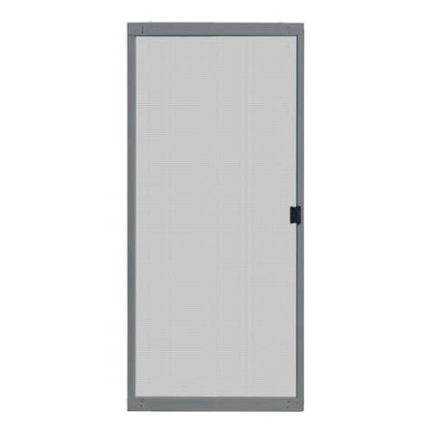 Unique Home Designs 30 In X 80 In Standard Grey Metal Patio Screen Door Sizes