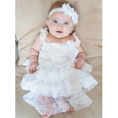 Dress Baby Katun Jepang Dress Bayi baby lace dress clothes newborn baptism dress infant toddler white dress baby
