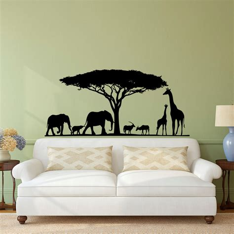 Safari Wall Decal Animal Wall Decal Stickers Safari Nursery Safari Nursery Wall Decals