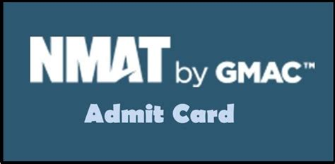 Nmat Mba by Nmat 2018 Admit Card College