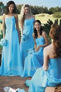 blue bridesmaid dresses light blue chiffon strapless bridesmaid dressescherry cherry