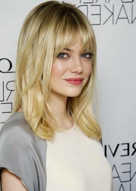 Medium Hairstyles With Bangs 2016 by Medium Length Haircuts With Bangs 2016