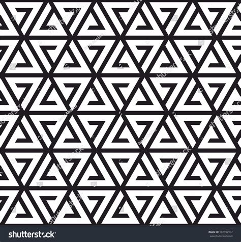 black triangle pattern vector triangle pattern black and white stock vector