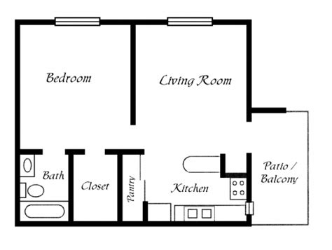 one bedroom bungalow house plans one room bungalow floor plans images house floor plans