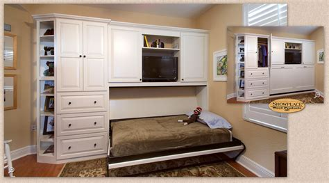 Entertainment Unit Design by Cabinets A Custom Showplace Murphy Wall Bed Welcomes Guests