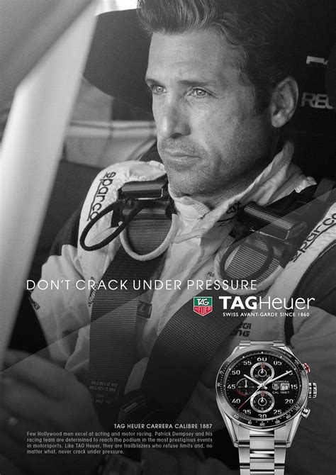 tag heuer ads quot don t under pressure quot is new tag heuer brand