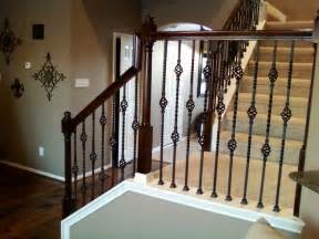 Metal Banister Iron Balusters Double Basket Stair Wrought Iron Baluster