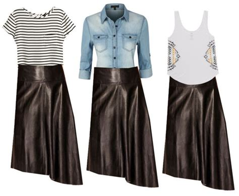 1 item 5 ways styling a leather skirt jk style
