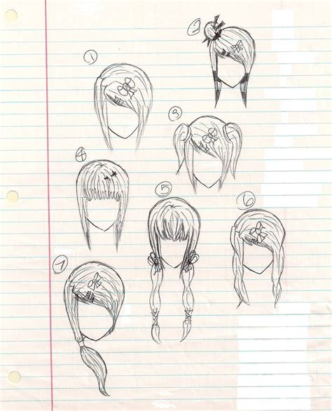 anime girl hairstyles anime hairstyles by plmethvin on deviantart