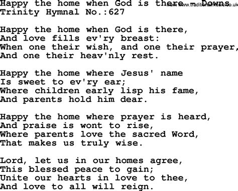 hymnal hymn happy the home when god is there