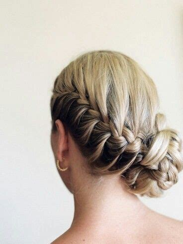 braided hairstyles with side bun side french braid bun