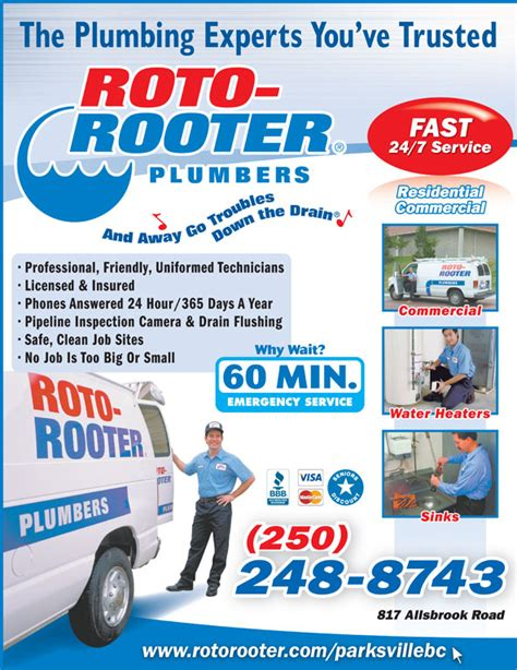 Roto Rooter Plumbing Drain Service by Roto Rooter Sewer Drain Cleaning Service Parksville