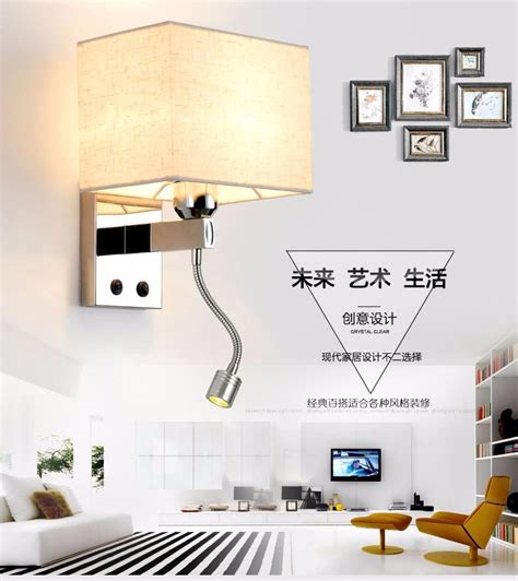 bedroom reading lights with switch bedrooms led font b reading b font wall ls with knob