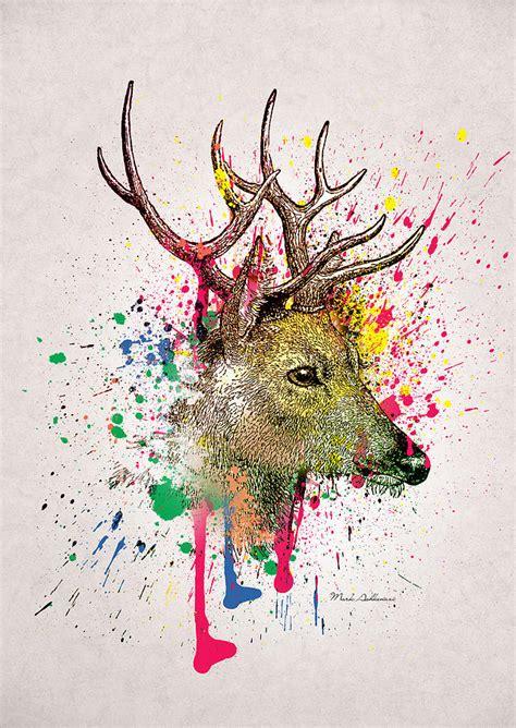 Home Decor For Sale Online Deer Digital Art By Mark Ashkenazi
