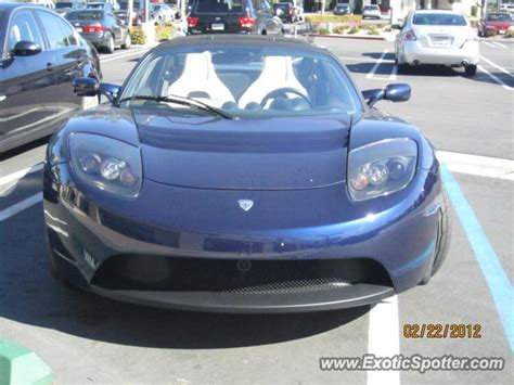 tesla roadster spotted in san diego california on 02 22 2012