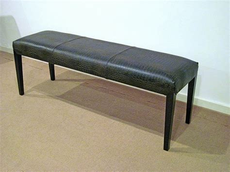 bench international travel stone international leather dining bench with wenge legs