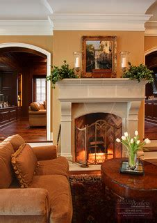 traditional living room by geoffrey bradfield inc by great room fireplace traditional living room chicago