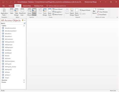 sql query in tutorial point ms access sql view