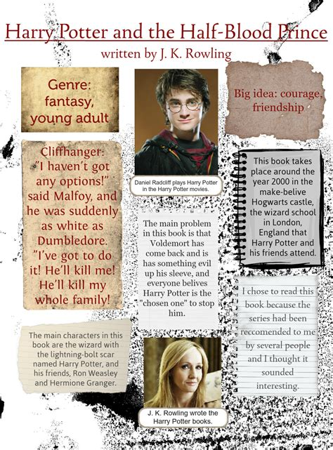 prince book report harry potter and the half blood prince book reports