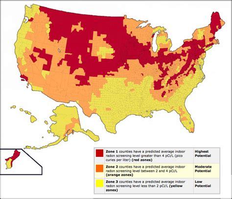 Which Country S Granite Has Less Radon - radon maps radon zones in usa