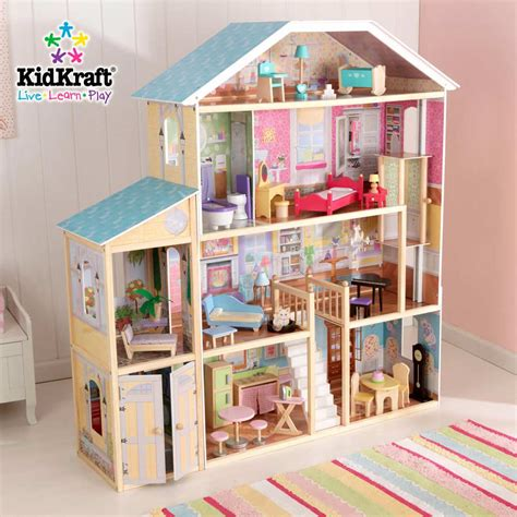 kid kraft doll houses kidkraft majestic mansion dollhouse 65252 at homelement com