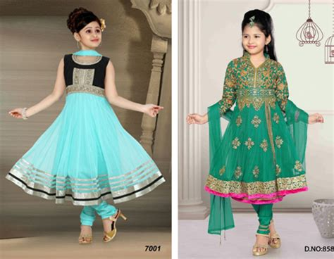 Baju India Anak Perempuan 12 contoh foto desain gambar model baju sari india modern