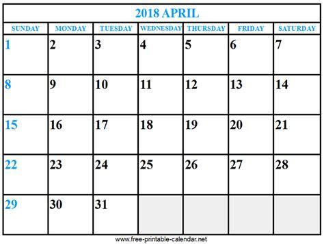 printable calendar 2018 april print calendar 2018 april download print calendars