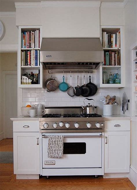 Pot Rack Above Stove Viking Range In Classic White Beautiful Cooking With