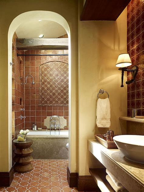 terracotta bathroom floor tiles 20 interiors that embrace the warm rustic beauty of terracotta tiles