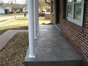 Faux Painting Concrete Patio - new stamped concrete porch and posts porch st louis by benhardt construction amp remodeling