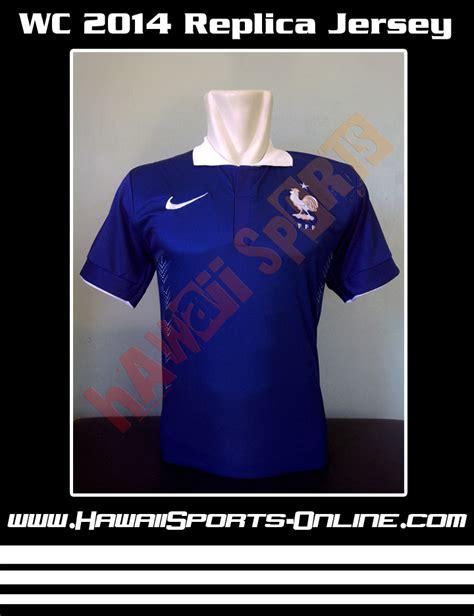 T Shirt Prancis toko olahraga hawaii sports jersey replica prancis home