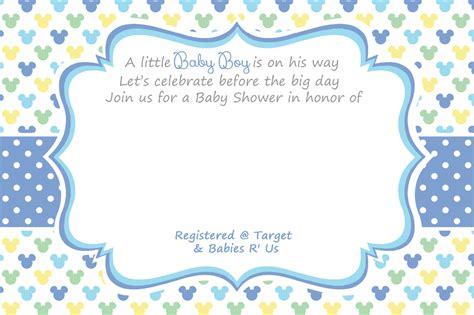 free mickey mouse baby shower invitation templates sempak