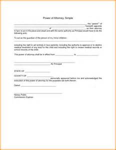 poa template free simple blank power of attorney form