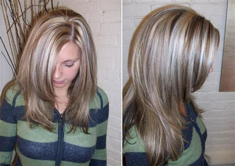 platinum blonde highlight with dark brown low lights platinum highlights lowlights long hairstyles how to