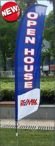 real estate open house flags remax signs flags sign riders more dee sign