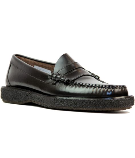 bass weejuns loafers bass weejuns larson mod crepe sole loafer shoes in black
