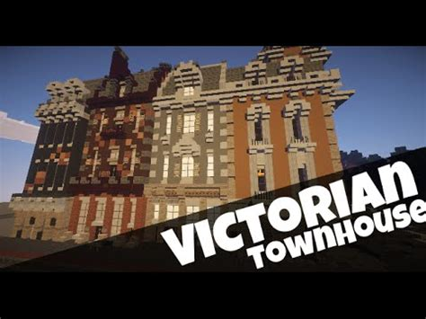 minecraft town houses victorian townhouse minecraft showcase youtube