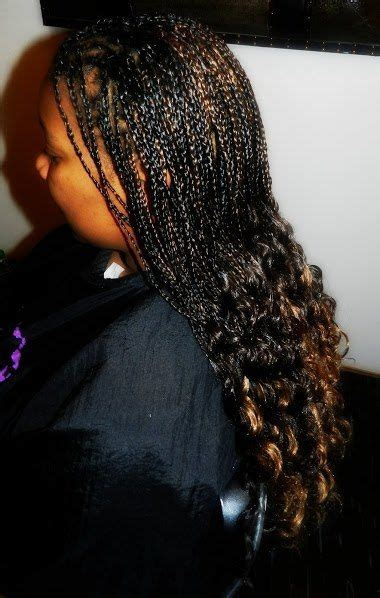 jawline length african braids with curly ends individual braids with curly ends new natural hairstyles