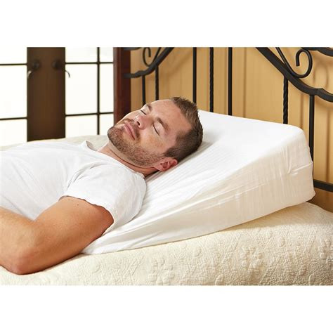 wedge bed pillow home comforts memory foam wedge pillow 233129 pillows