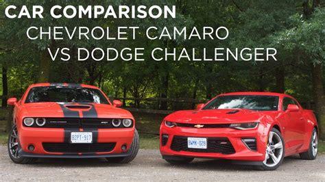 dodge camaro car comparison chevrolet camaro vs dodge challenger