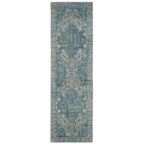 safavieh vintage turquoise 8 ft safavieh restoration vintage ivory turquoise 2 ft 3 in x 8 ft runner rvt421a 28 the home depot