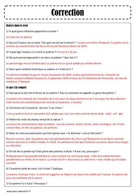 Arthur Rimbaud Le Dormeur Du Val Analyse by Le Dormeur Du Val Arthur Rimbaud Arts Du Langage