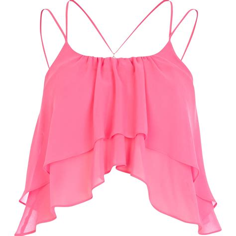 Blz Top Blouse Emily Gil pink crop top my style