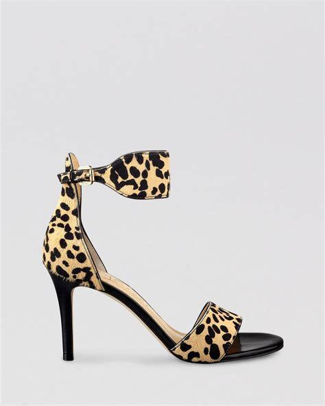 leopard high heel ivanka open toe sandals gelana leopard print high