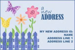 new address new home announcement postcard or card picket fence flower ajinvites gift giving