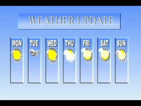 Weather Template In After Effects Youtube Weather Report Template