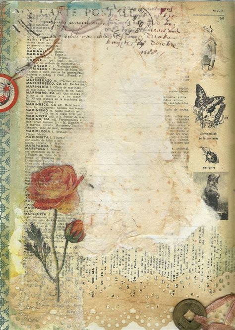 vintage craft paper ink tissues paint vintage dictionary page lovely