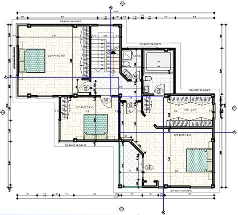 cad house plans modern family house 2d dwg plan for autocad designscad